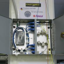 The input of the optical rings of the dark fibers at PhotonLab