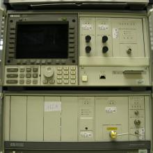 Wideband oscilloscope with optical input.